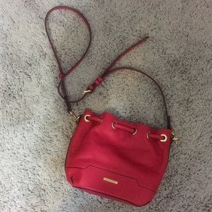NWT Rebecca Minkoff Hot Pink Bucket Crossbody Bag